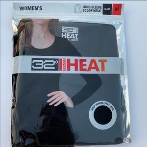 32 degrees Heat Long sleeve scoopneck shirt blk XL
